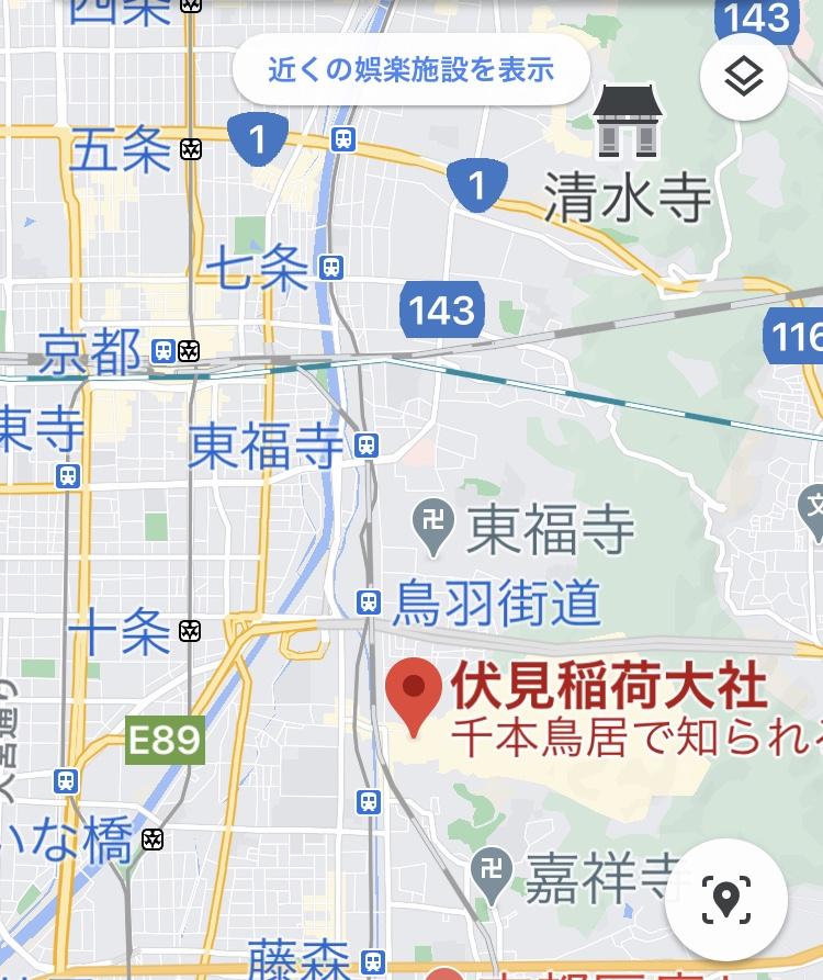 伏見稲荷大社の地図